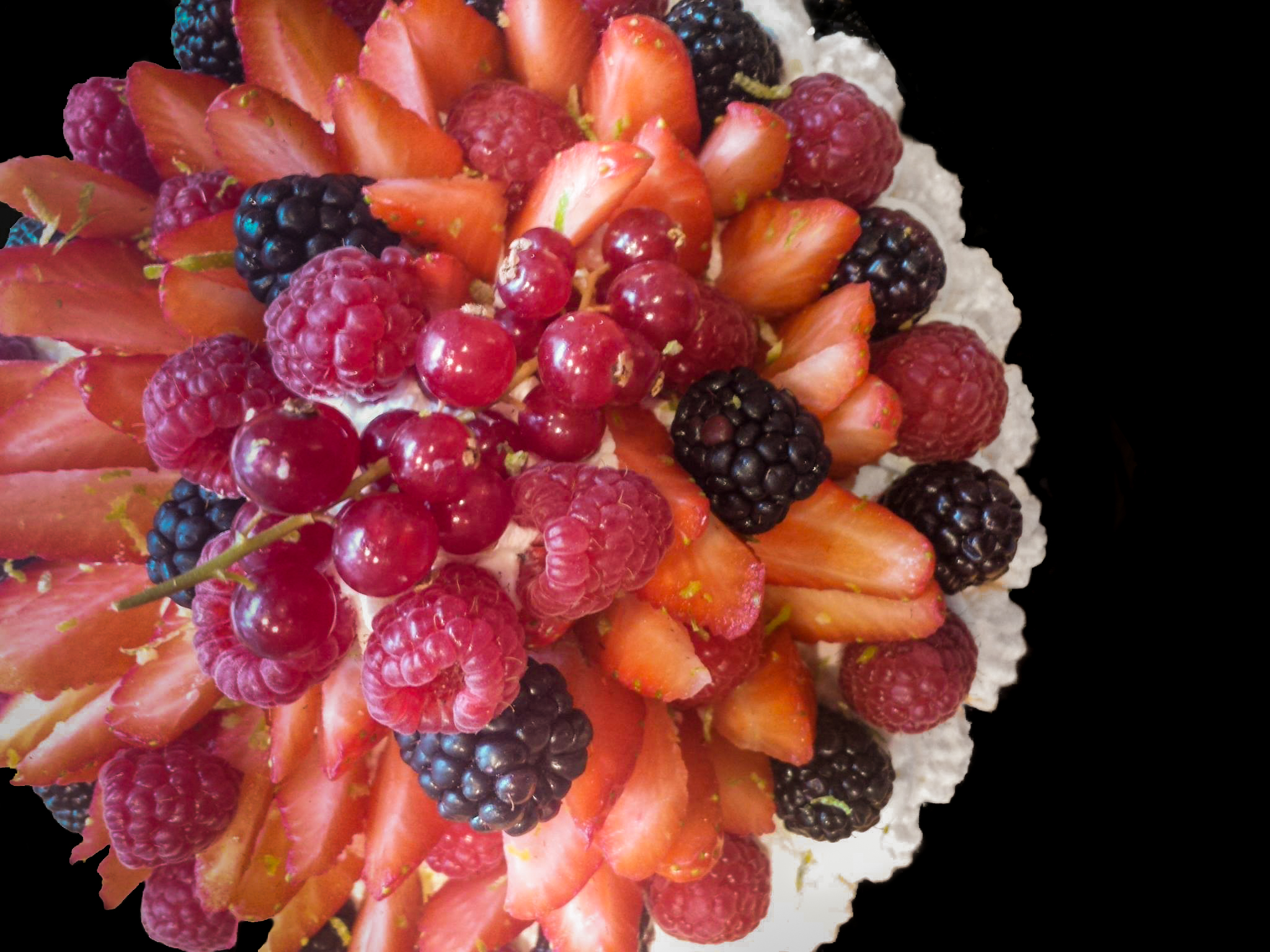 pavlova fruits rouges buffet campagnard